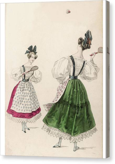 Fashion Plate Canvas Print - Short Coloured Skirts Showing by Mary Evans Picture Library