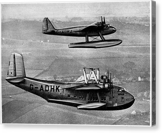 Seaplanes Canvas Print - Short Mayo Composite Aircraft by Cci Archives