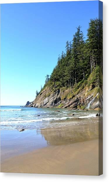 Short Sand Beach Canvas Print