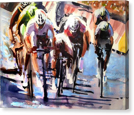 Bicycle Canvas Print - Short Sharp Sprint by Shirley  Peters