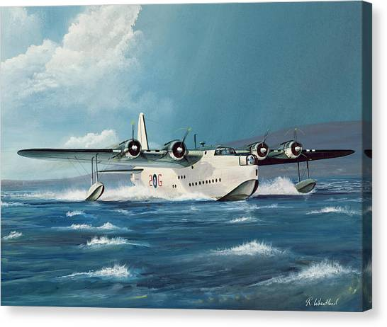 Business-travel Canvas Print - Short Sunderland by Richard Wheatland