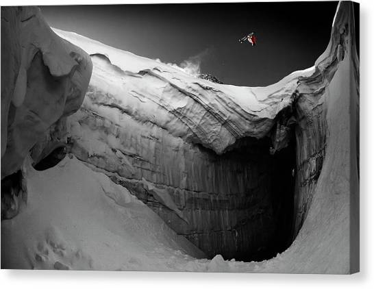 Skiing Canvas Print - Shortcut by Tristan Shu