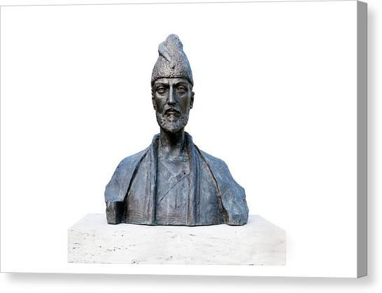 Statue Portrait Canvas Print - Shota Rustaveli by Fabrizio Troiani