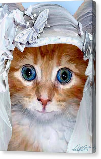 Shotgun Bride  Cats In Hats Canvas Print