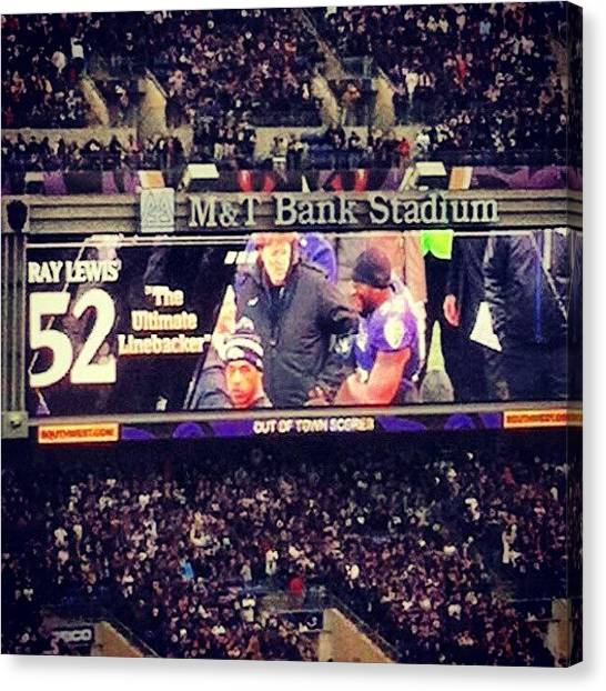 Ravens Canvas Print - Shout Out To The #ravens And The Best by Radiofreebronx Rox