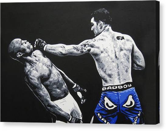 Mma Canvas Print - Showboat Fail by Geo Thomson