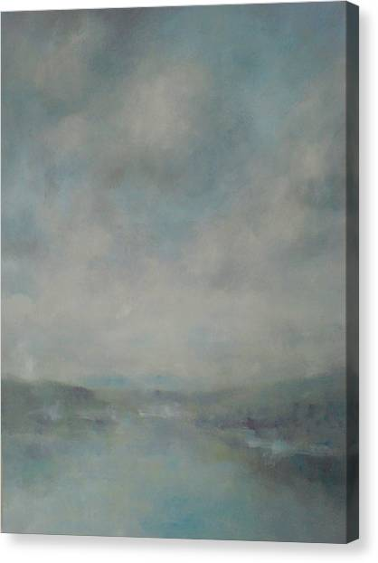 Shower Clouds Over The River Medina Canvas Print by Alan Daysh