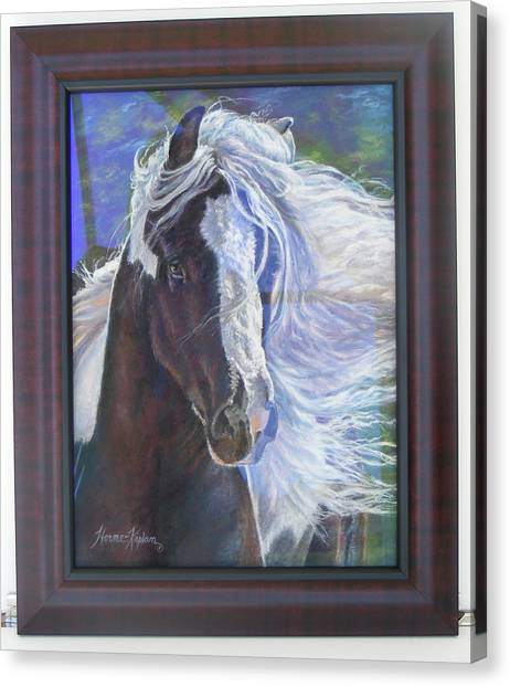 showing frame on Pearlie King Canvas Print