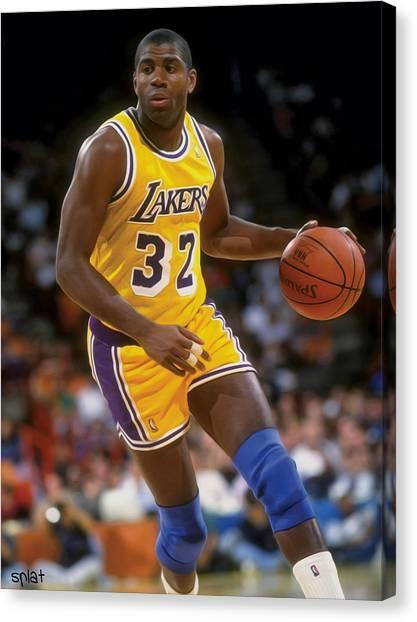 La Lakers Canvas Print - Showtime by Sebastian Plat