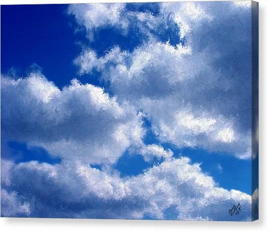 Shredded Clouds Canvas Print
