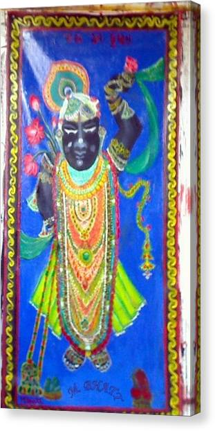 Shreenathji Canvas Print by M Bhatt