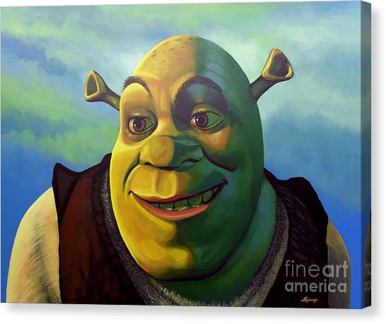 Computers Canvas Print - Shrek by Paul Meijering