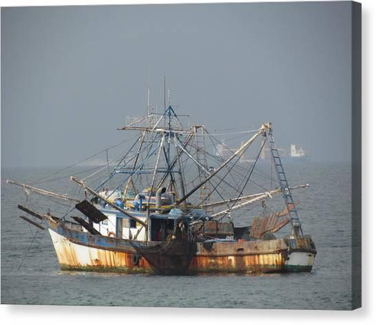 Shrimp Boats Canvas Print