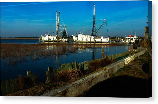Shrimp Boats Canvas Print