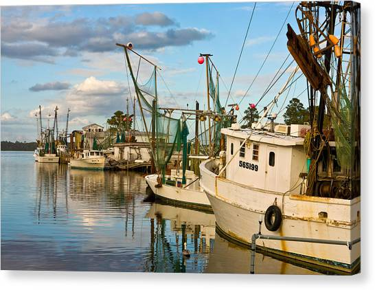 Shrimpers Cove Canvas Print