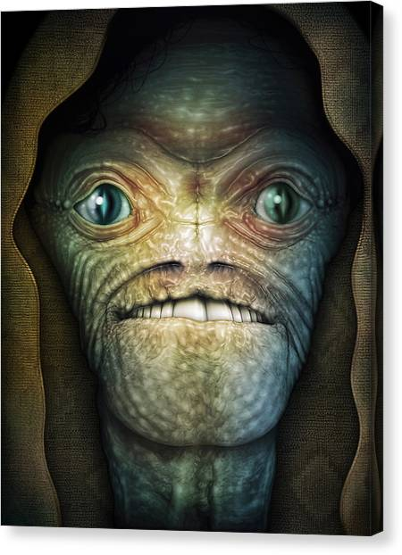 Shrouded Alien Canvas Print