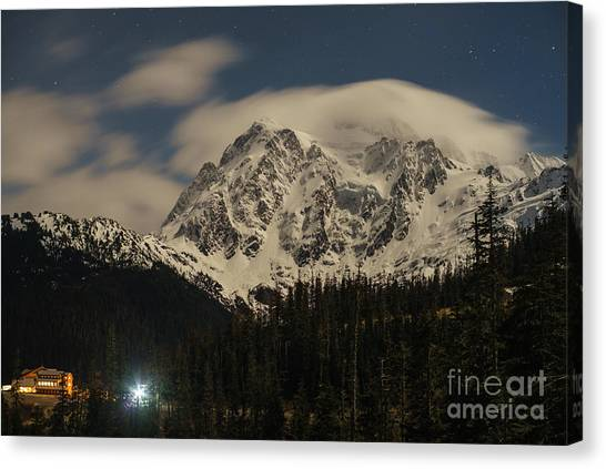 Cloud Forests Canvas Print - Shuksan Night Moves by Mike Reid