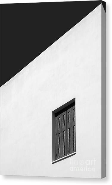 Greece Canvas Print - Shuttered Window by Rod McLean
