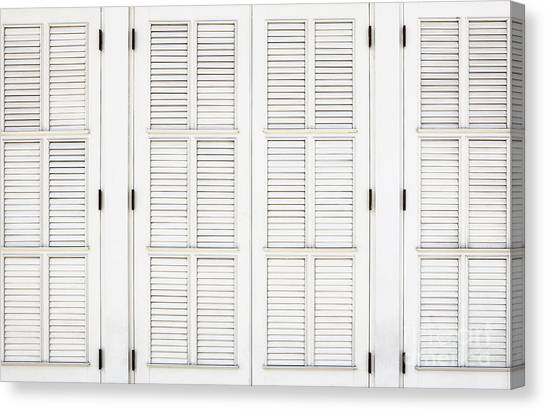 Canvas Print featuring the photograph Shutters In Ponce by Bryan Mullennix