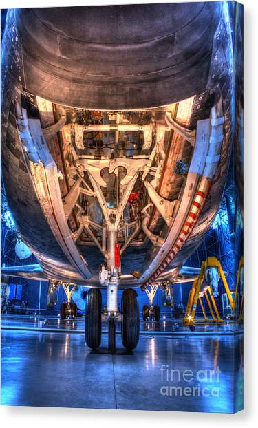 Shuttle Discovery Nose Gear And Bay Canvas Print