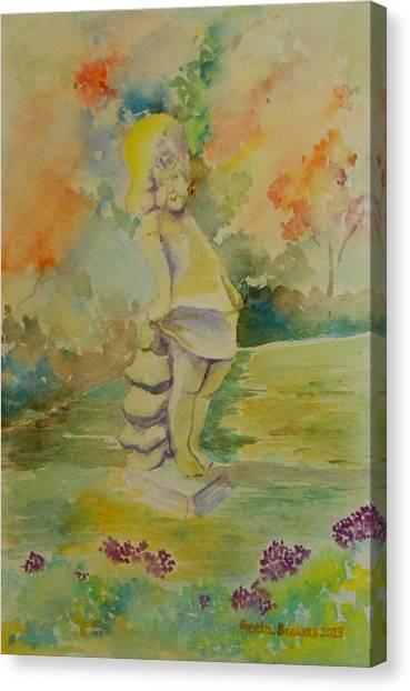 Shy Garden Angel Canvas Print