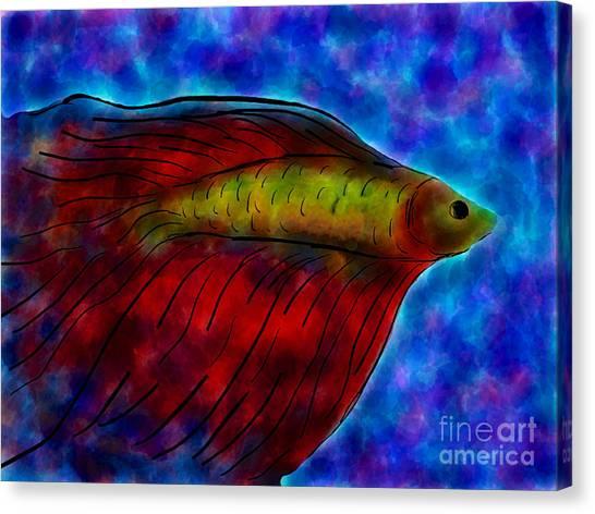 Siamese Fighting Fish II Canvas Print