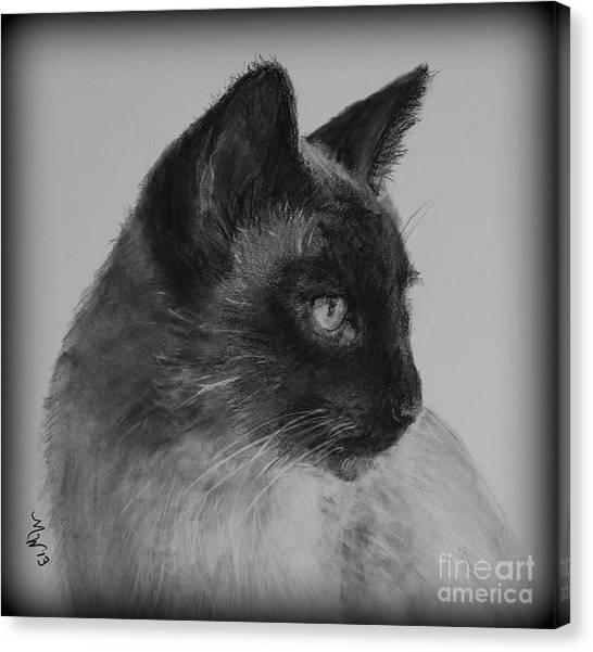 Siamese Silence Canvas Print