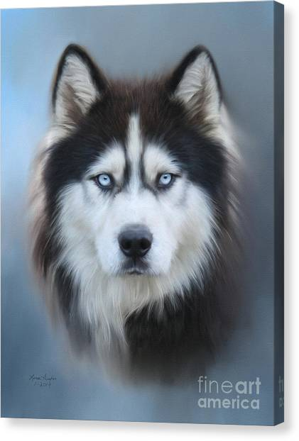 Huskies Canvas Print - Siberian Husky by Lena Auxier