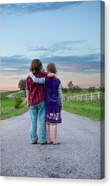 Child Canvas Print - Siblings by Elizabeth Gray