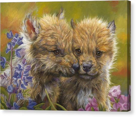 Puppies Canvas Print - Siblings by Lucie Bilodeau