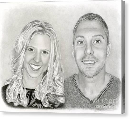Long Hair Canvas Print - Siblings by Sarah Batalka