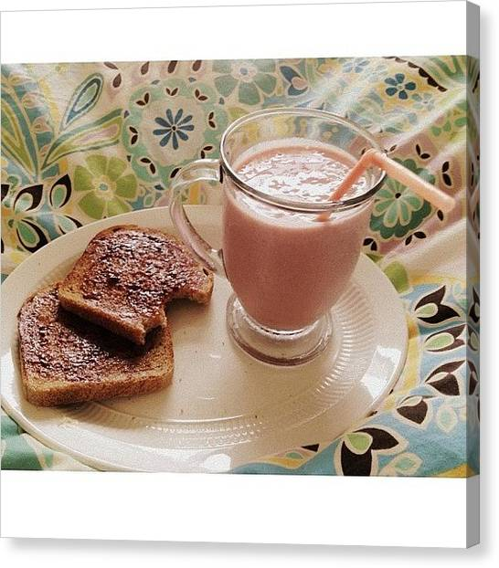 Smoothie Canvas Print - Sick Days Call For Breakfast In Bed by Megan Nicole