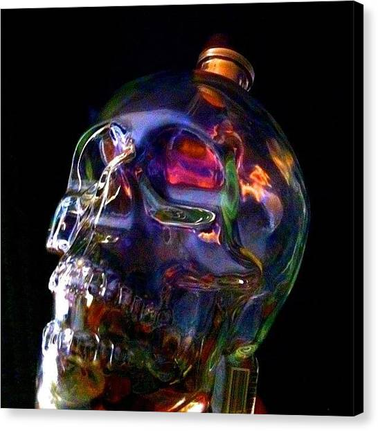 Vodka Canvas Print - Sick Skull Edit! by Donny Seelhoff
