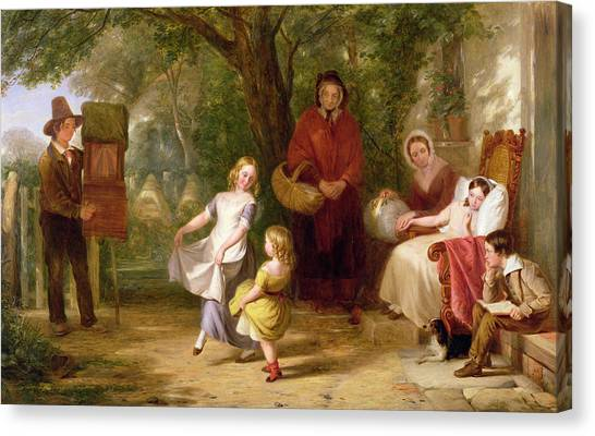 Victorian Garden Canvas Print - Sickness And Health by Thomas Webster