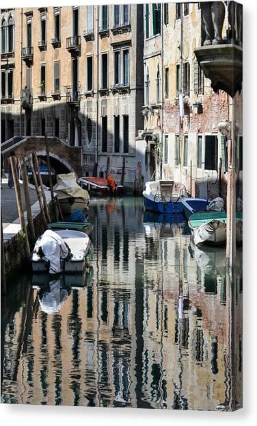 Side Canal Venice Canvas Print