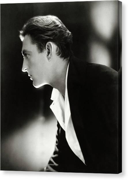 John Barrymore In Profile Canvas Print