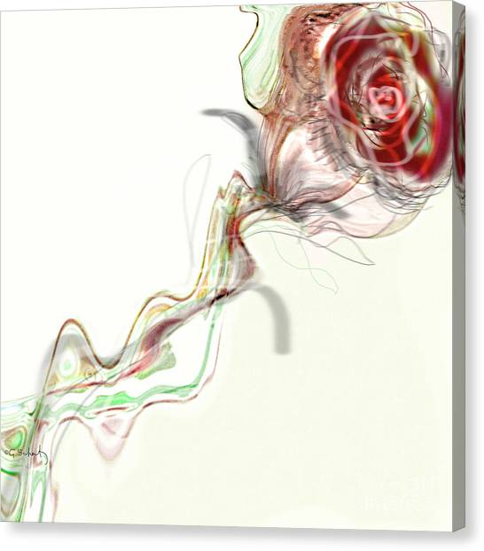 Side Rose Canvas Print