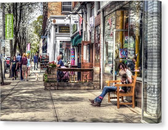 Sidewalk Scene - Great Barrington Canvas Print