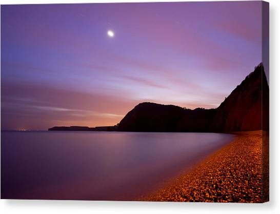 Sidmouth And Venus Canvas Print