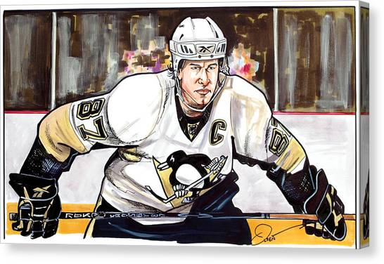 Pittsburgh Penguins Canvas Print - Sidney Crosby by Dave Olsen