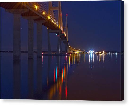 Sidney Lanier At Night Canvas Print