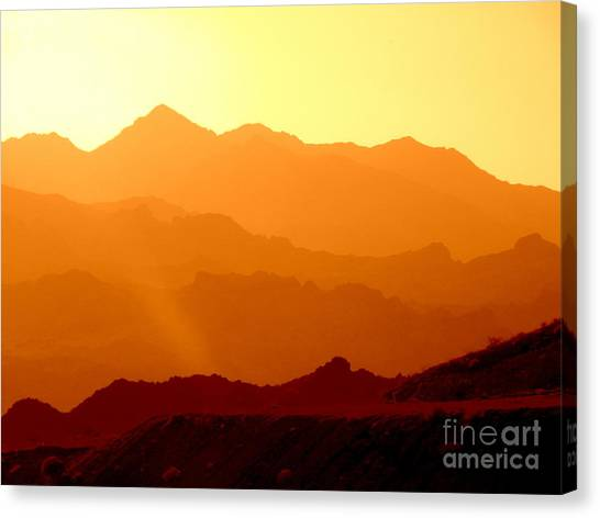 Sienna Layers Canvas Print