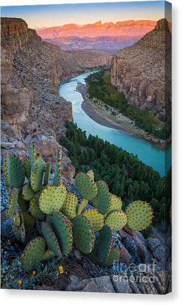 Travel Canvas Print - Sierra Del Carmen by Inge Johnsson