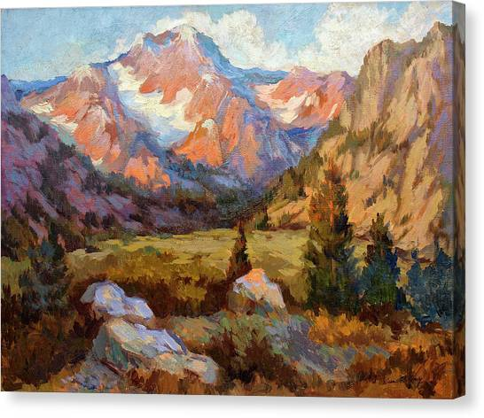 Bishops Canvas Print - Sierra Nevada Mountains by Diane McClary