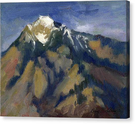 Bishops Canvas Print - Sierra Nevadas Mount Tom by Diane McClary