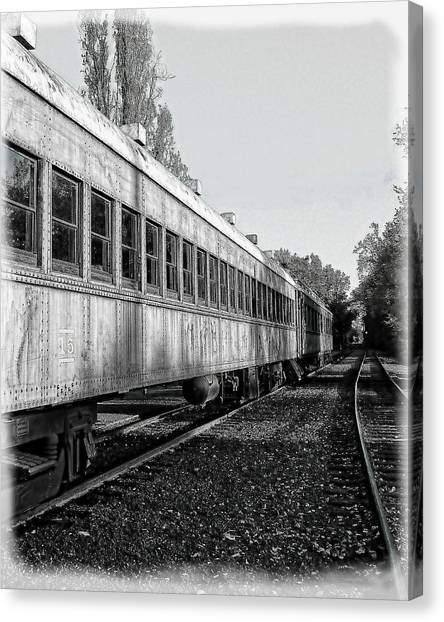 Canvas Print featuring the photograph Sierra Railway On The Tracks by William Havle