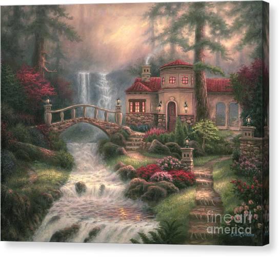 Affordable Canvas Print - Sierra River Falls by Chuck Pinson