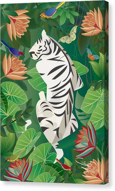 Siesta Del Tigre - Limited Edition 2 Of 15 Canvas Print