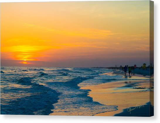 Siesta Key Sunset Walk Canvas Print