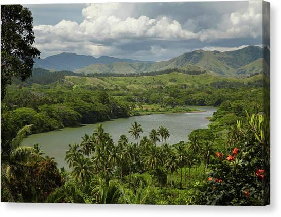 Approach Canvas Print - Sigatoka River, Lower Sigatoka Valley by David Wall